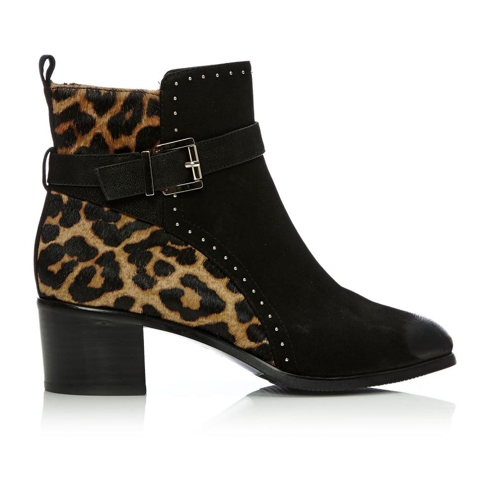 Cherie Leopard Calf Hair Boots From Moda In Pelle Uk
