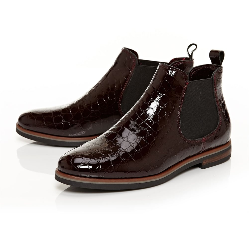 Chesca Burgundy Patent Leather - Boots