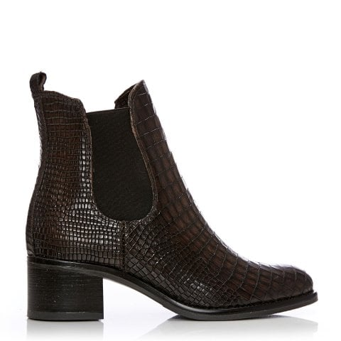 Colino Dark Brown Mocc Croc