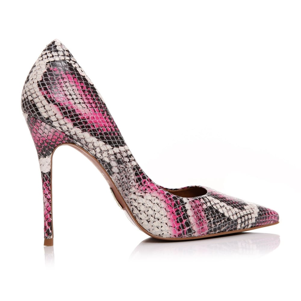 Cristina Pink Snakeskin Shoes From Moda In Pelle Uk