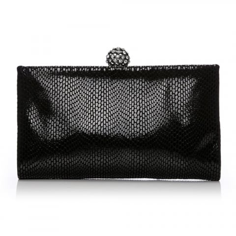 Crystalclutch Black Leather