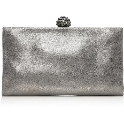 Crystalclutch Pewter Leather