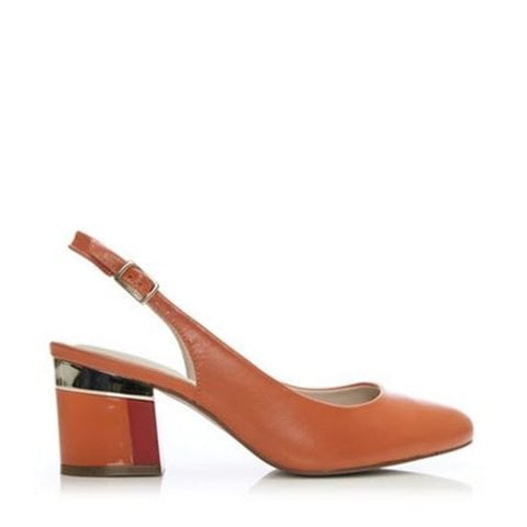 Dainelle Orange Leather