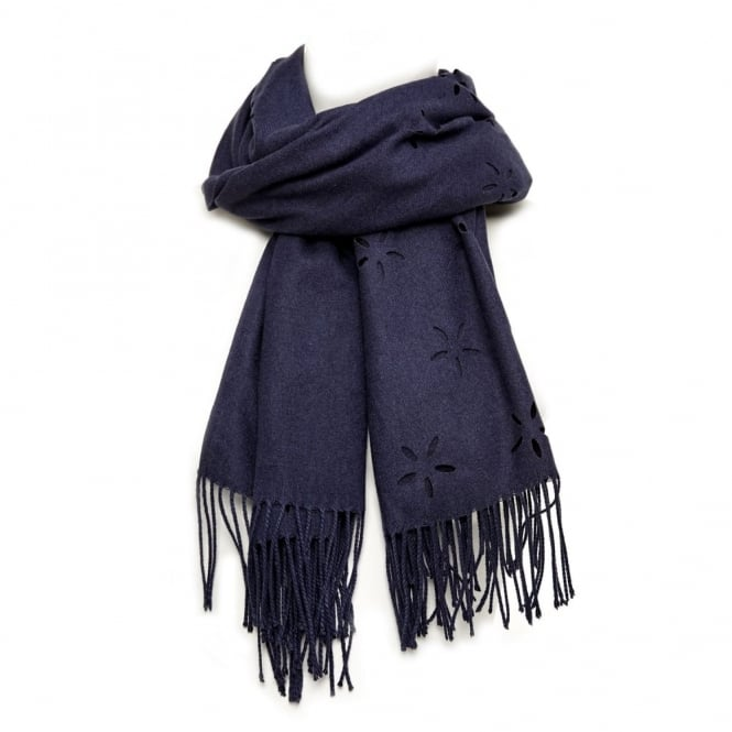 Daisyscarf Navy Fabric