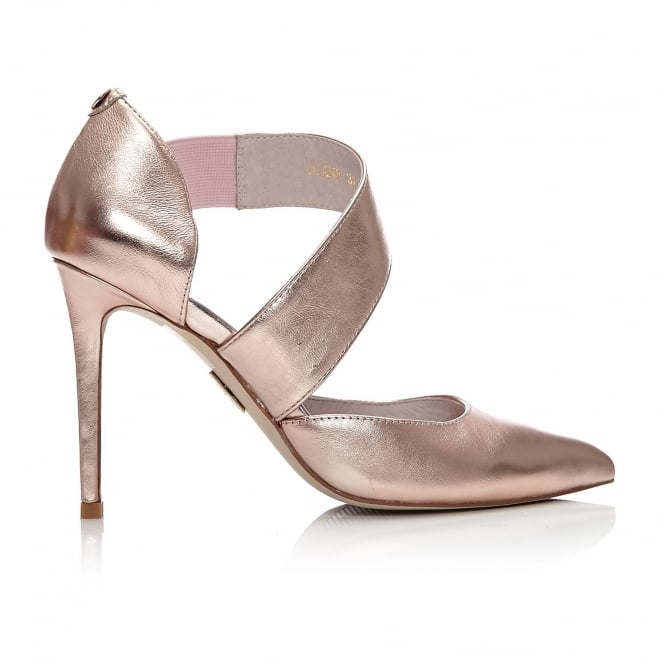 Diane Rose Gold Metallic Leather