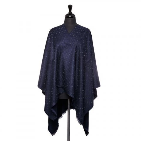 Dinaponcho Midnight Blue Fabric