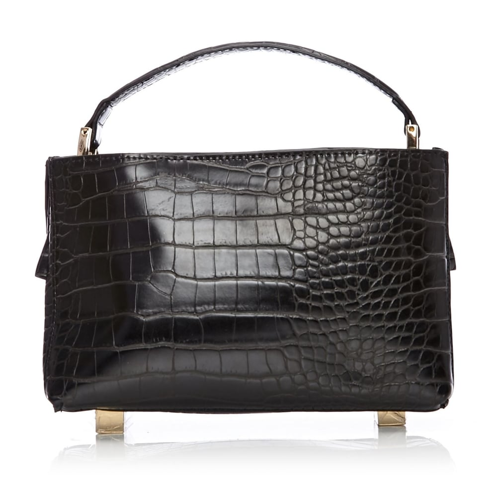67217a812f33d Dionbag Black Mocc Croc - Bags from Moda in Pelle UK