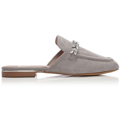 Eastie Light Grey Suede