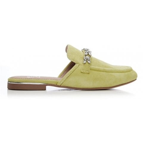 Eastie Lime Green Suede