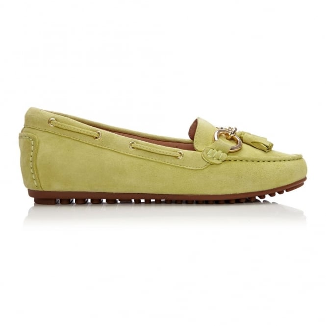 Eima Lime Green Suede