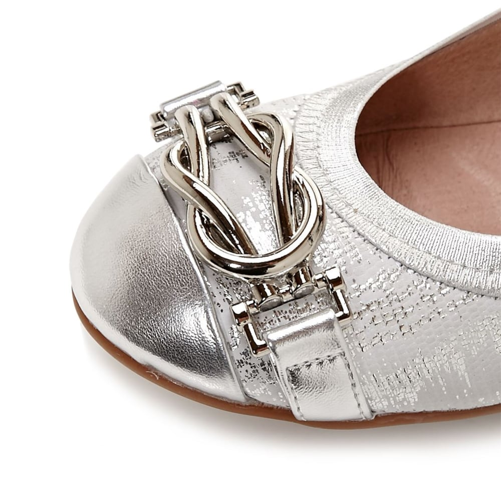 4d542c70c67a1a Eleena Silver Leather - Shoes from Moda in Pelle UK