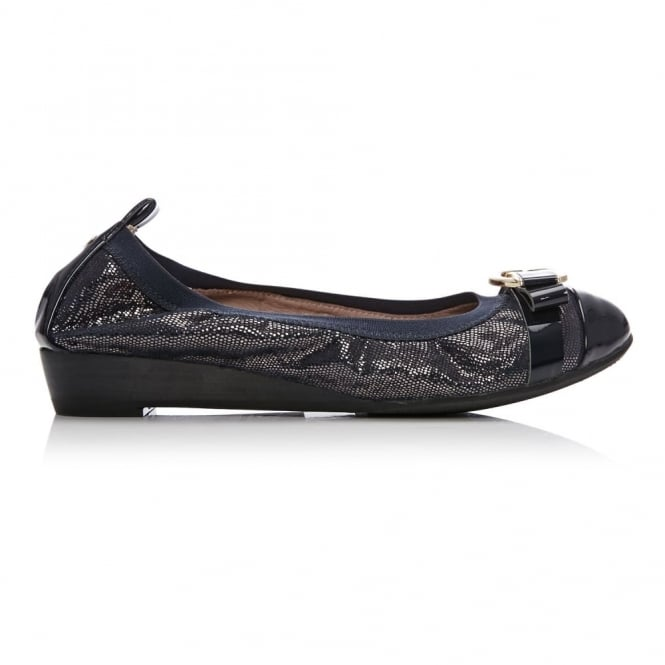 Ellan Navy Metallic Lizard Effect Leather