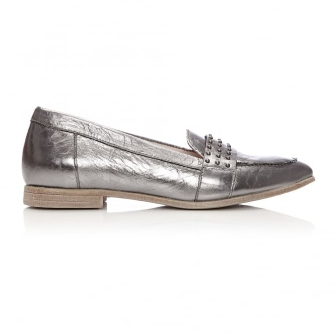 Emesto Pewter Patent Leather