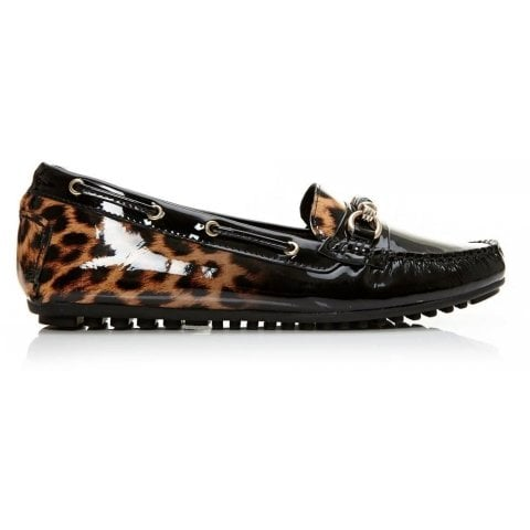 Esma Leopard Ombre Leather