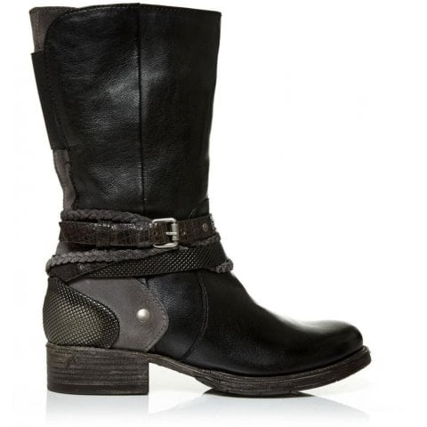 Espla Black Leather