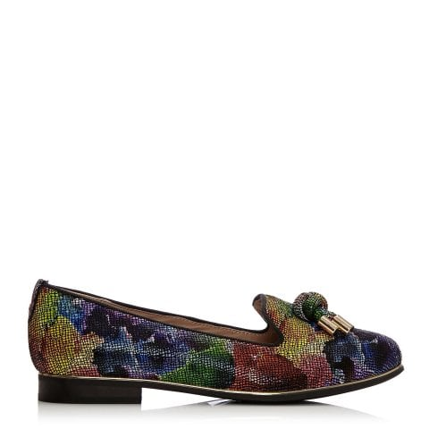 Estellan Dark Floral Leather