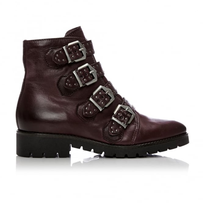 Fantine Burgundy Leather