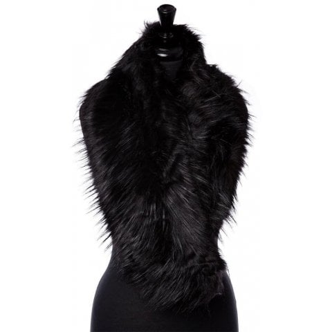 Faycollar Black Faux Fur