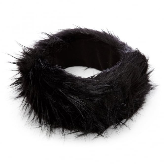 Fayheadband Black Faux Fur