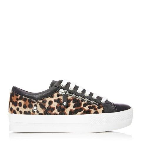 41236134b4fdf1 Fiarni Black - Leopard Calf Hair