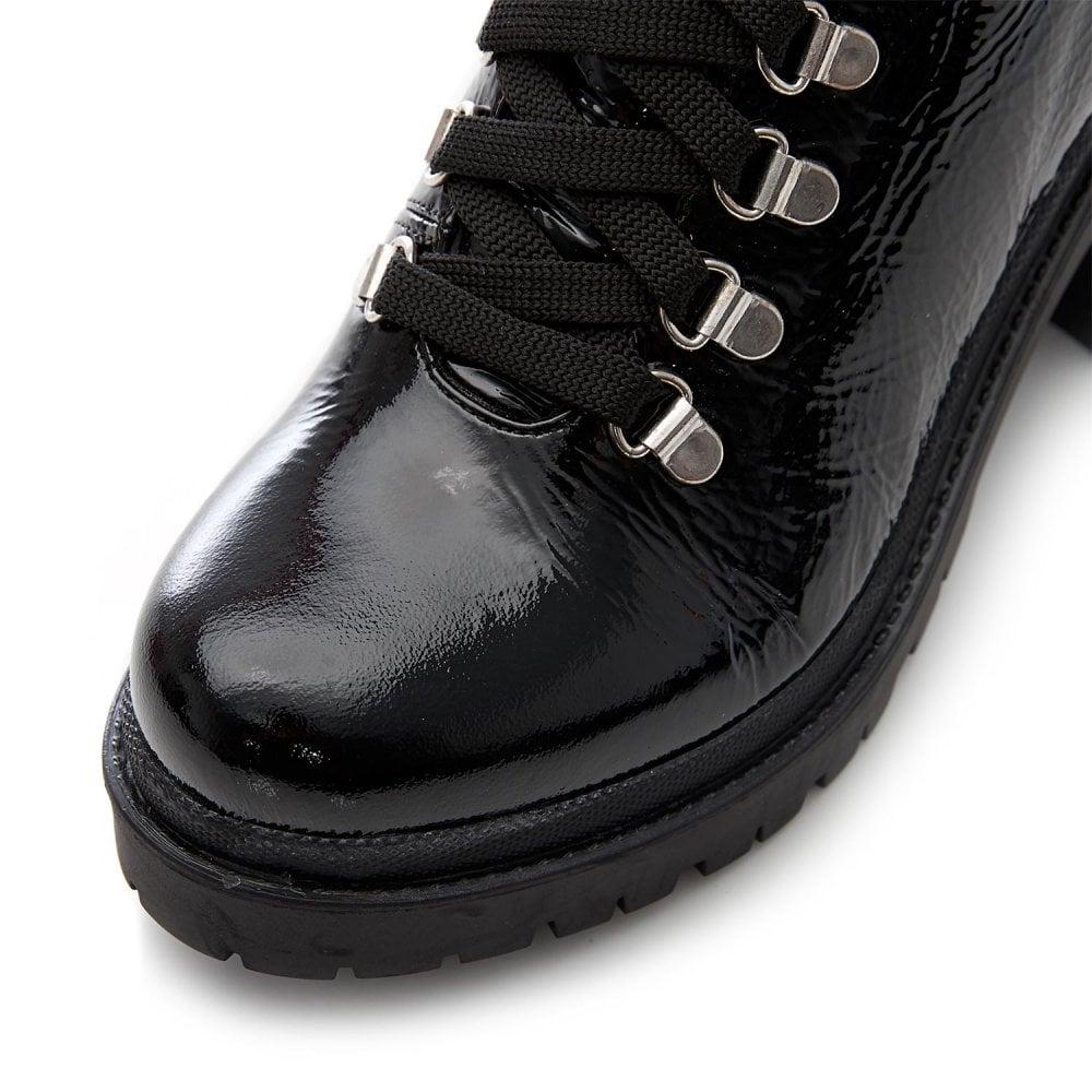 Fierce Black Patent Leather Boots