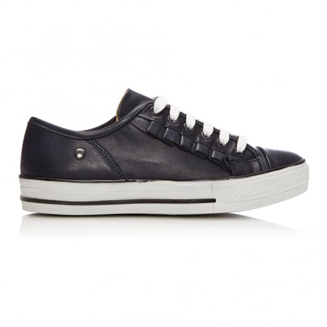 Fionie Navy Leather