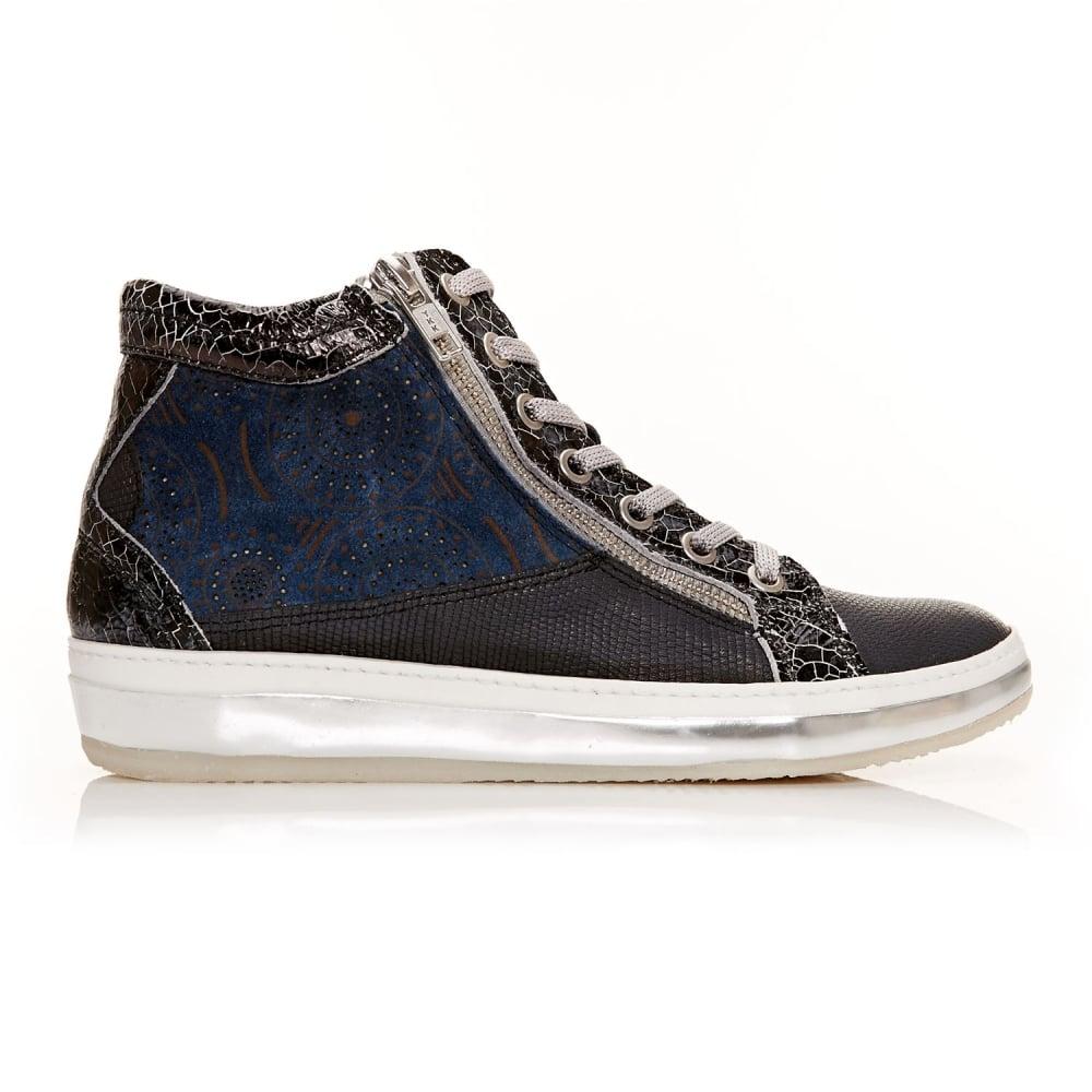 Fontra Navy Lizard Shoes From Moda In Pelle Uk