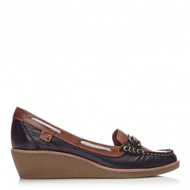Galdo Navy-Tan Leather