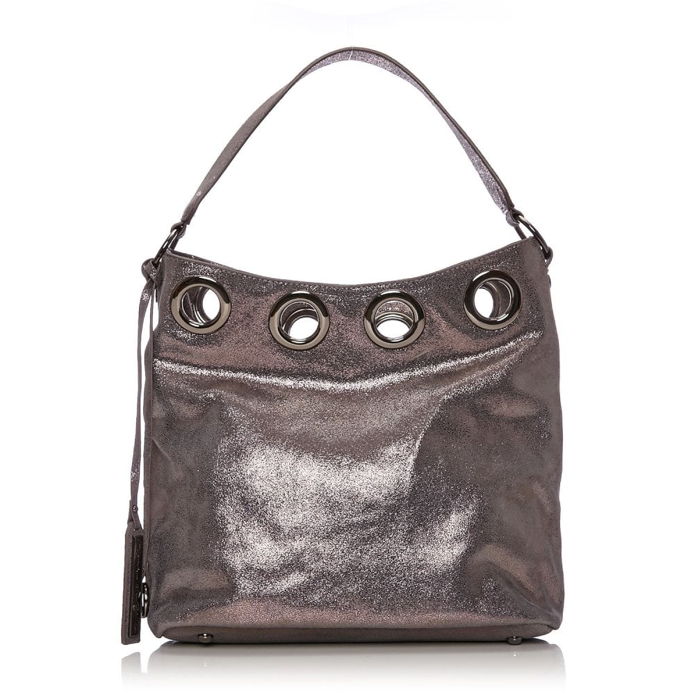 87cd30649dc2 Gracibag Pewter Metallic Leather - Bags from Moda in Pelle UK