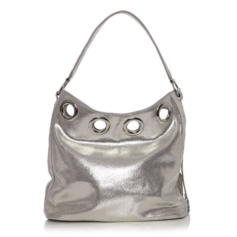 Gracibag Silver Metallic Leather