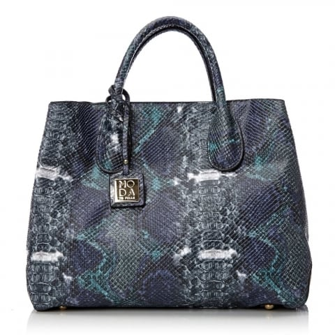 Harlibag Midnight Blue Snakeskin