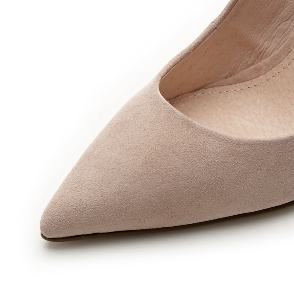 Ilari Nude Suede - Shoes from Moda in