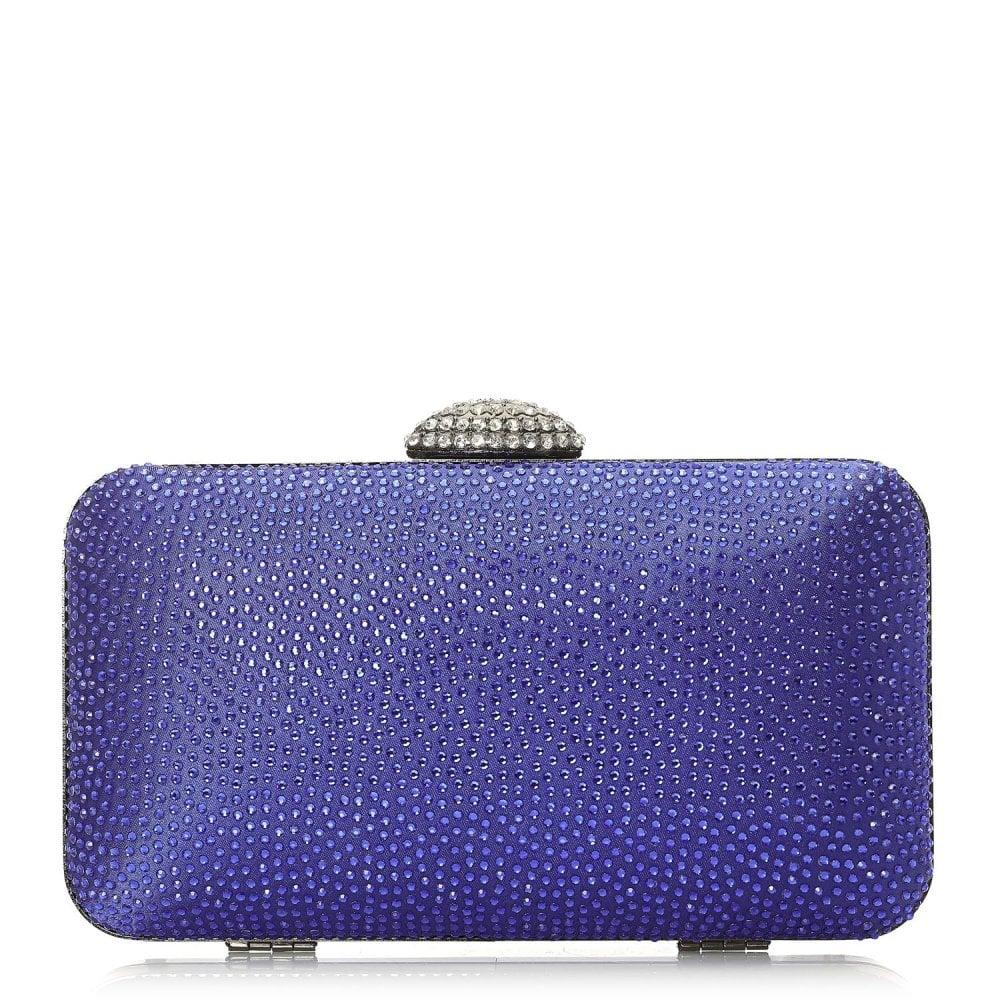 Kyliaclutch Cobalt Blue Satin Bags From Moda In Pelle Uk