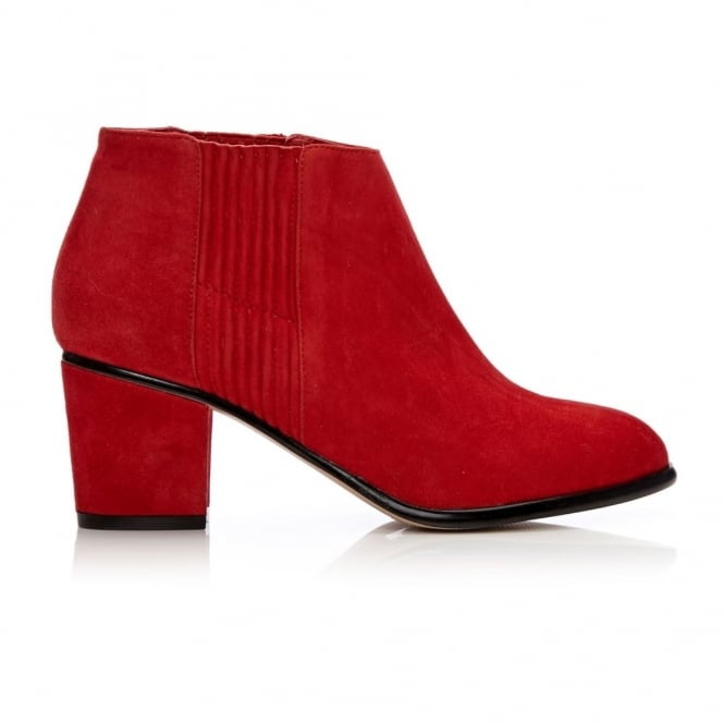 Lauria Red Suede