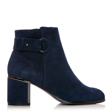 really cheap the latest find lowest price Women's Navy Blue Ankle Boots | Women's Blue Suede Ankle ...