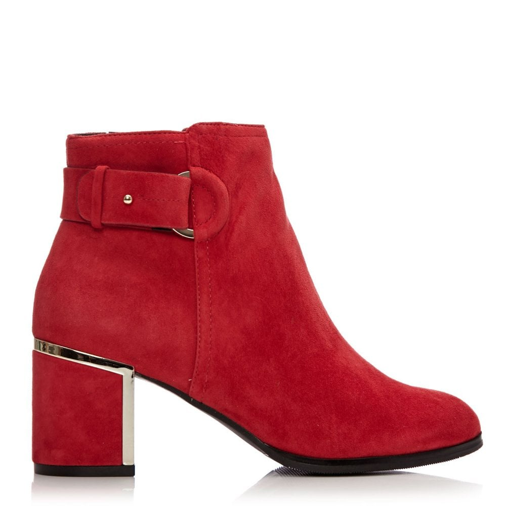 f7c926997 Laurista Red Suede - Boots from Moda in Pelle UK