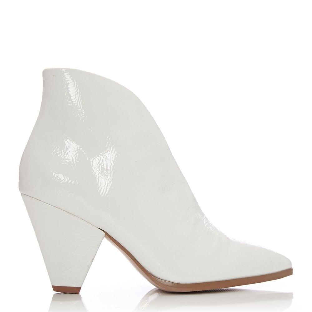 Lipa White Patent Pu Boots From Moda In Pelle Uk