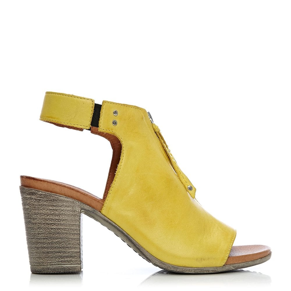 Loarli Yellow Leather - Sandals from
