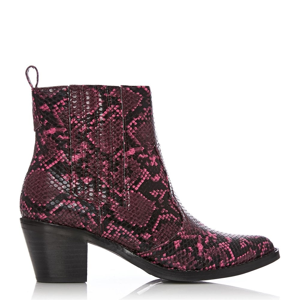 bf2ba8f3a Marian Pink Snake Print - Boots from Moda in Pelle US UK
