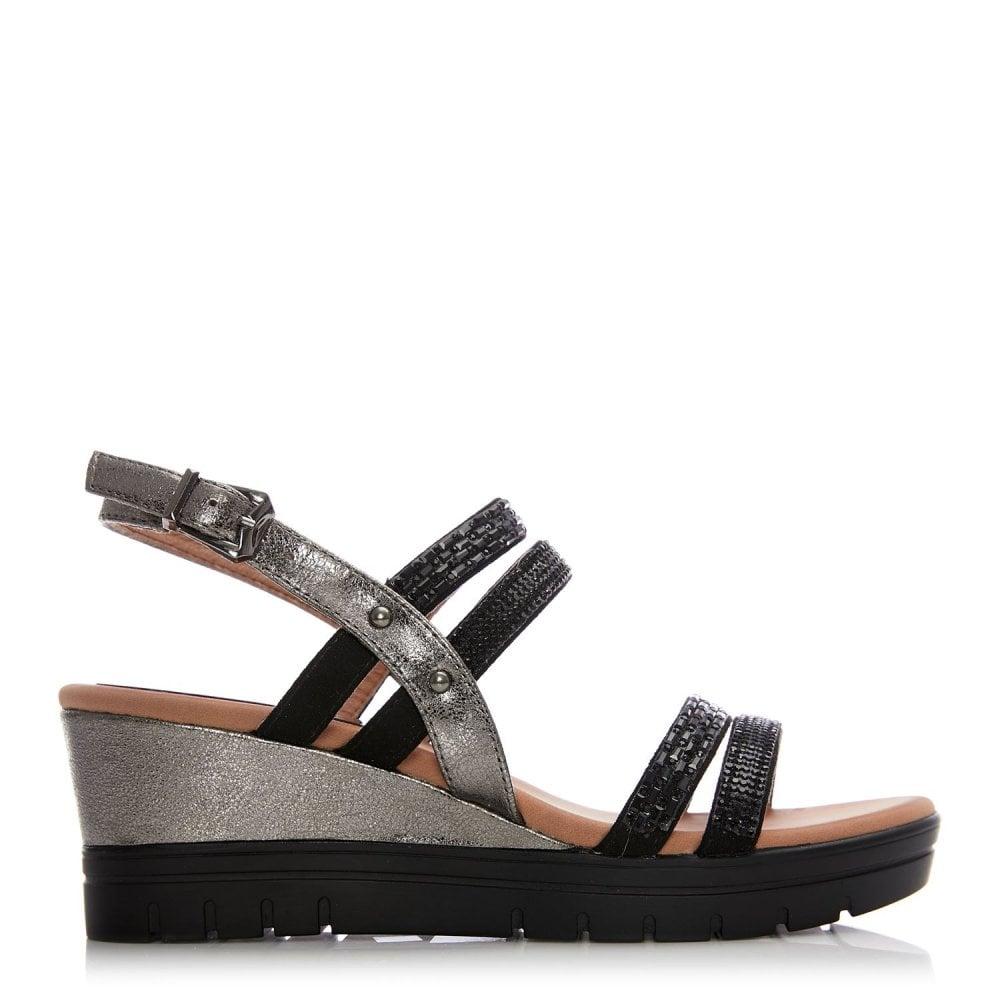 9cb75336f9fd Naller Black Diamante - Sandals from Moda in Pelle UK