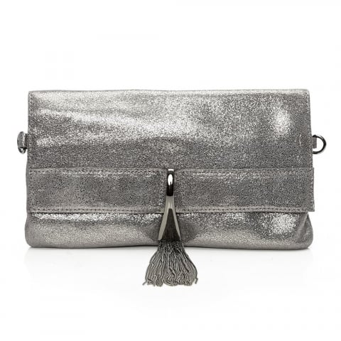 Nataliclutch Pewter Leather