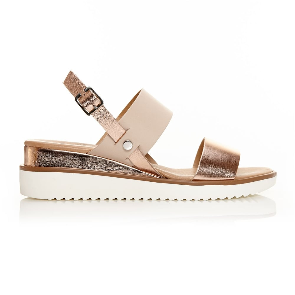 Navas Rose Gold Leather - Sandals from