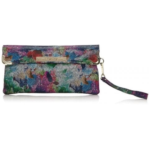 Nellaclutch Dark Floral Leather