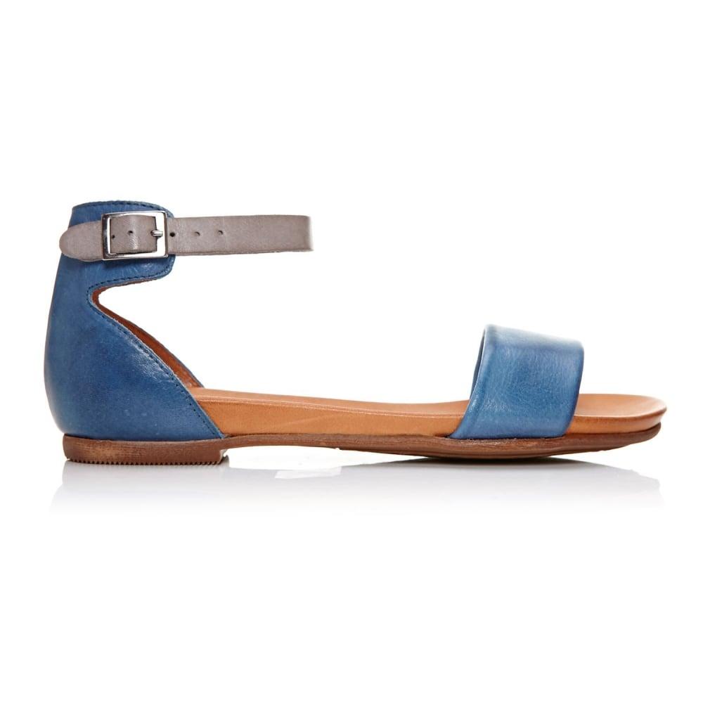 Noelle Cobalt Blue Leather Sandals From Moda In Pelle Uk
