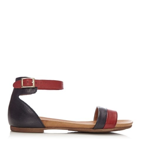 Noello Navy - Red Leather