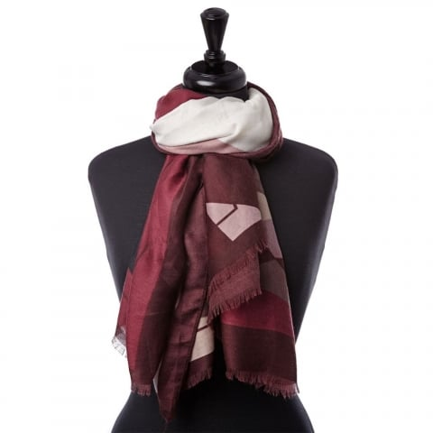 Olivescarf Burgundy Fabric