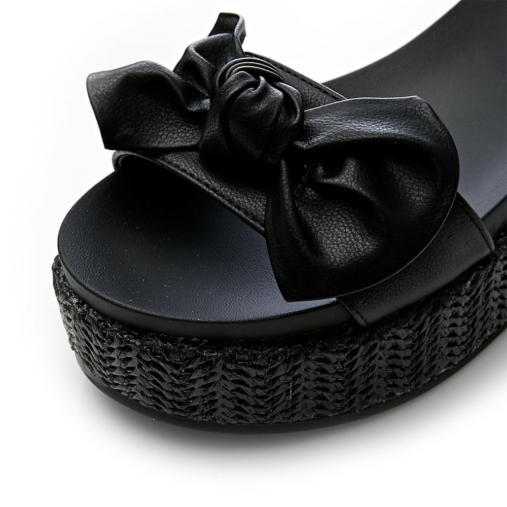 ff77917fc8a8 Pasha Black Porvair - Sandals from Moda in Pelle UK