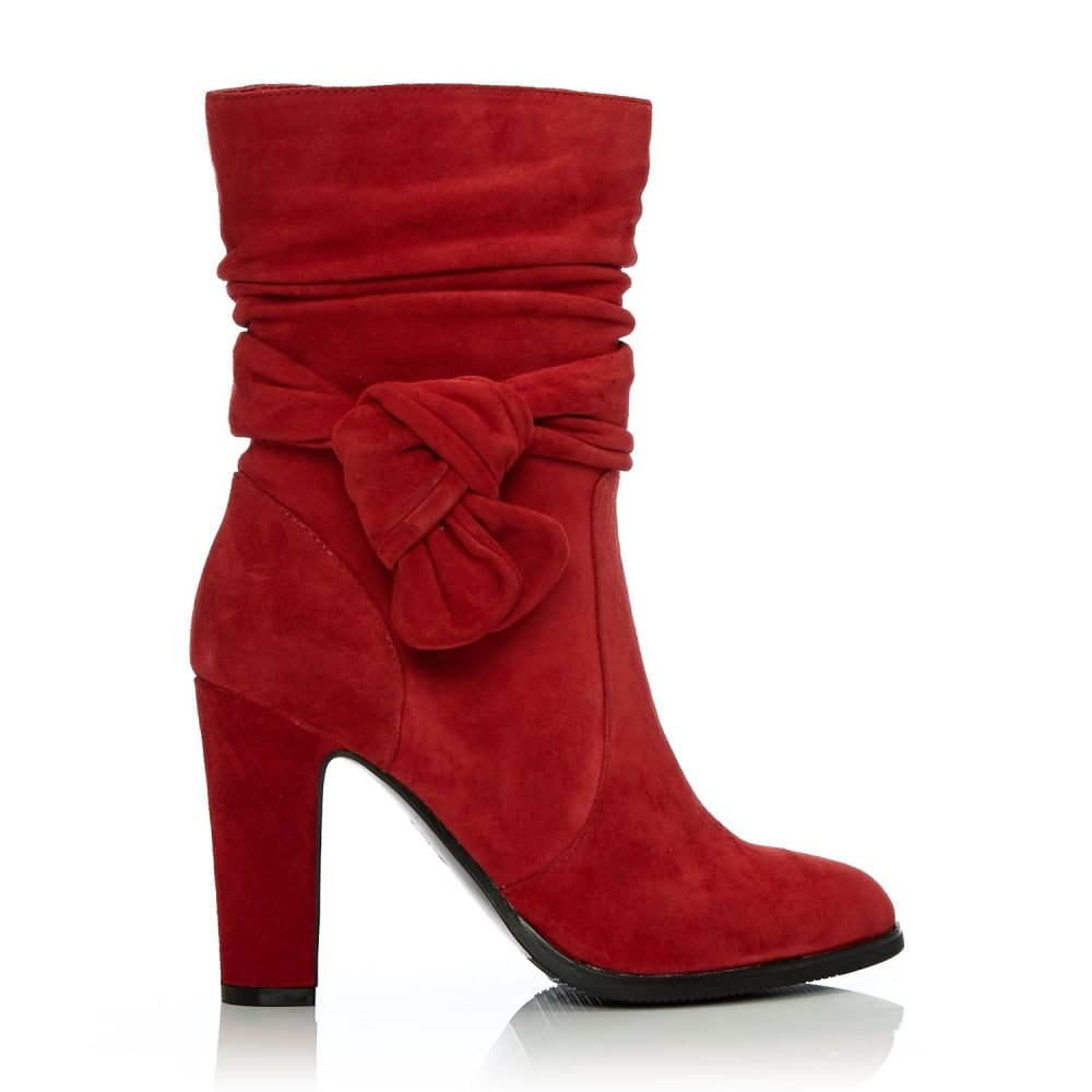 Peretta Red Suede - Boots from Moda in