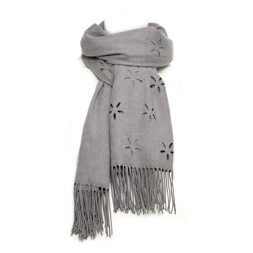 Image of Daisyscarf Grey Fabric