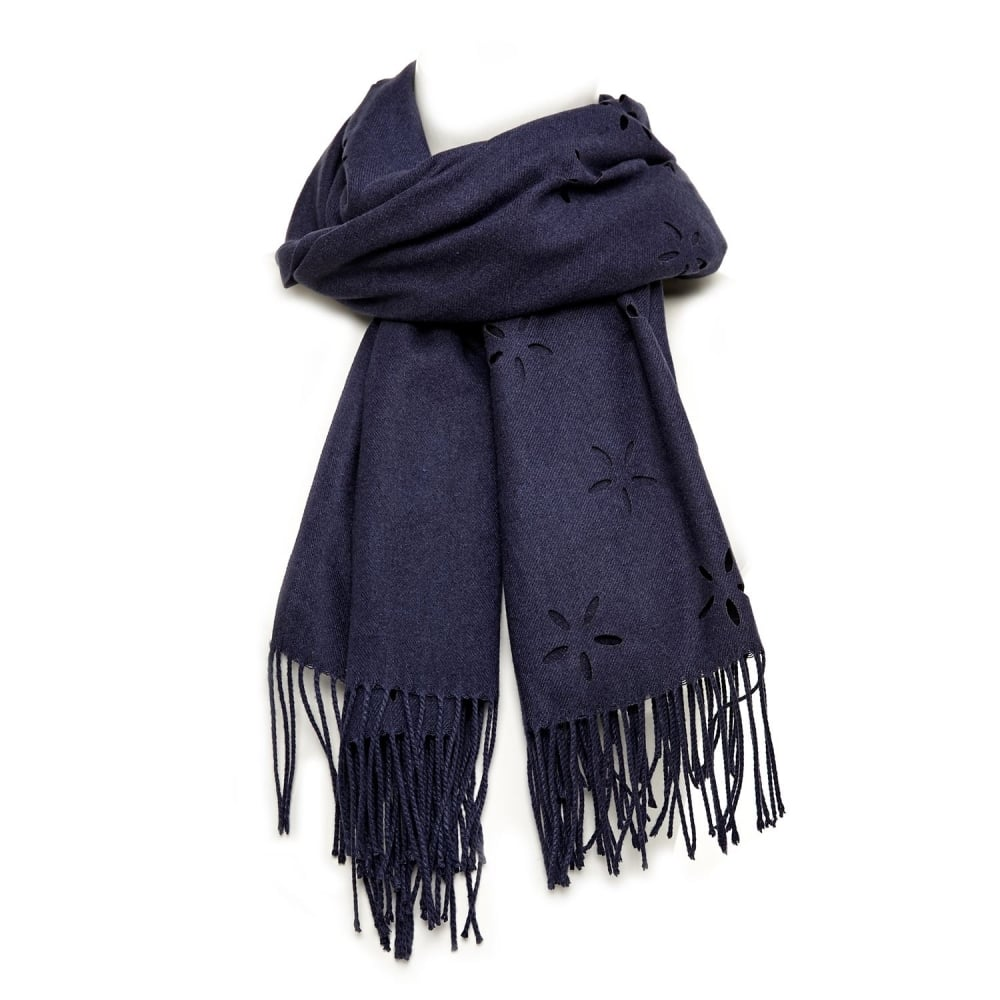 Image of Daisyscarf Navy Fabric